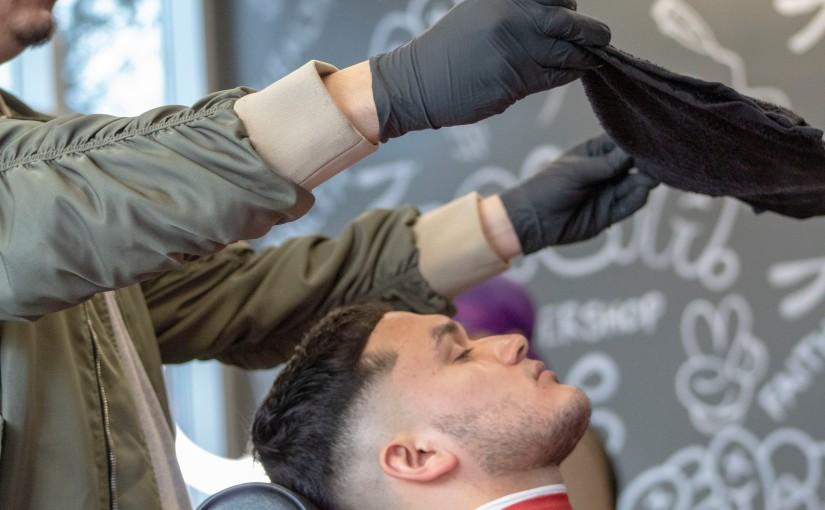 Inside the barbershop